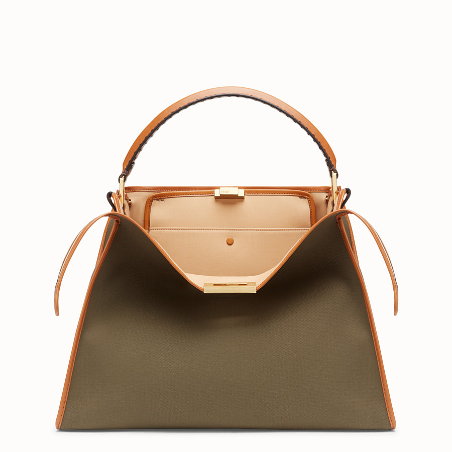 FENDI PEEKABOO X-LITE - Green canvas bag - view 1 detail