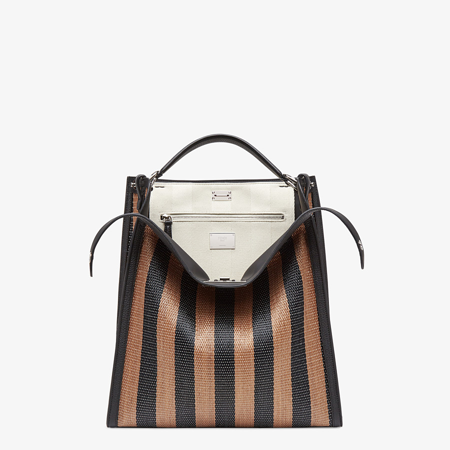 FENDI PEEKABOO X-LITE FIT - Brown raffia bag - view 1 detail