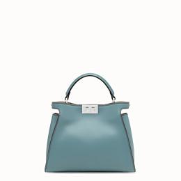 FENDI PEEKABOO ICONIC ESSENTIALLY - Light blue leather bag - view 1 thumbnail