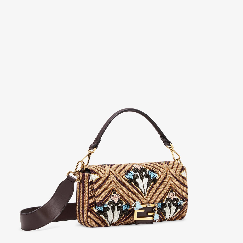 FENDI BAGUETTE - Brown satin bag - view 3 detail