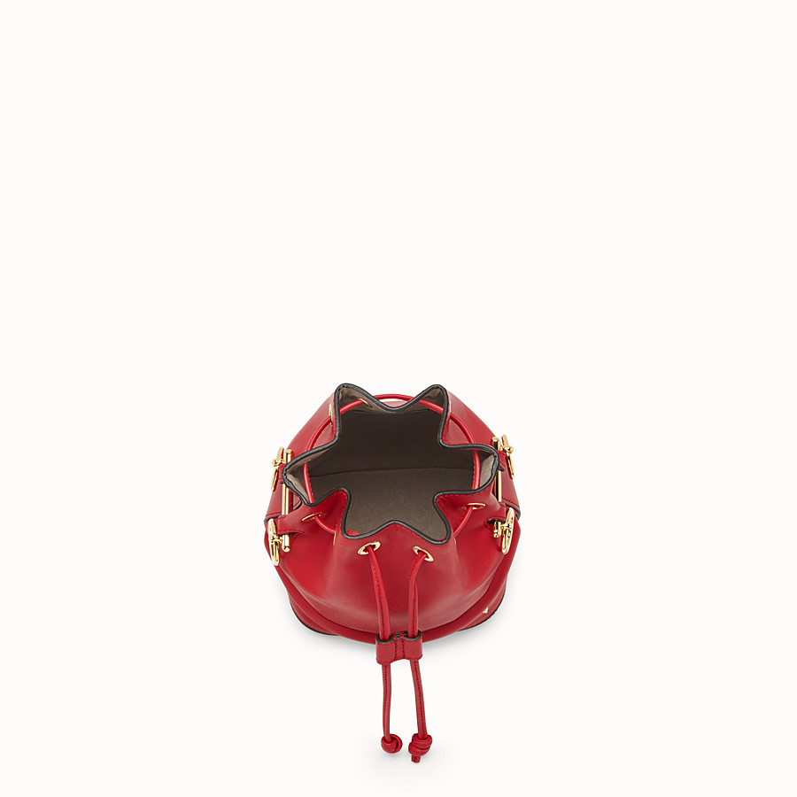 FENDI MON TRESOR - Mini-Tasche aus Leder in Rot - view 4 detail