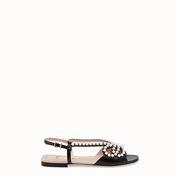 FENDI SANDALEN - Sandalen aus schwarzem Leder - view 1 small thumbnail