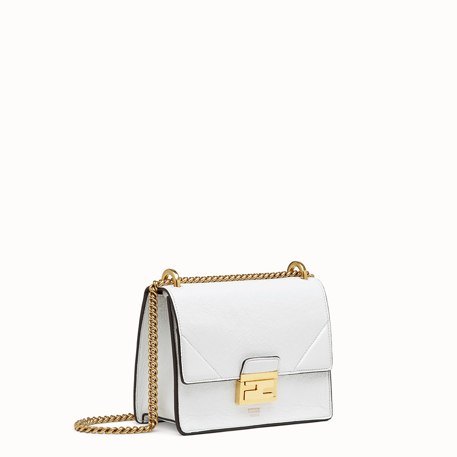 FENDI KAN U SMALL - White leather minibag - view 3 detail