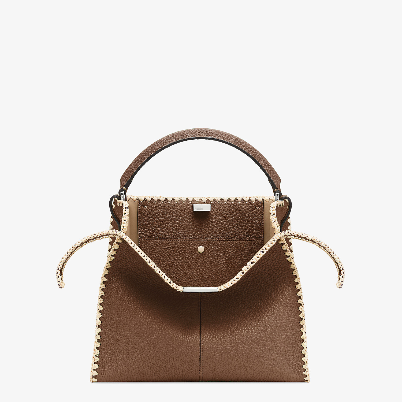 FENDI PEEKABOO X-LITE MEDIUM - Brown leather bag - view 1 detail