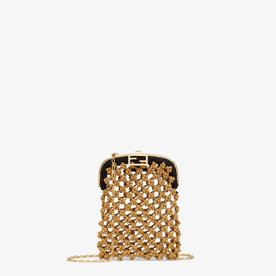 FENDI BAGUETTE PHONE BAG - Beige fabric mini-bag - view 1 detail