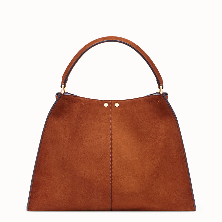 FENDI PEEKABOO X-LITE - Brown suede bag - view 4 detail