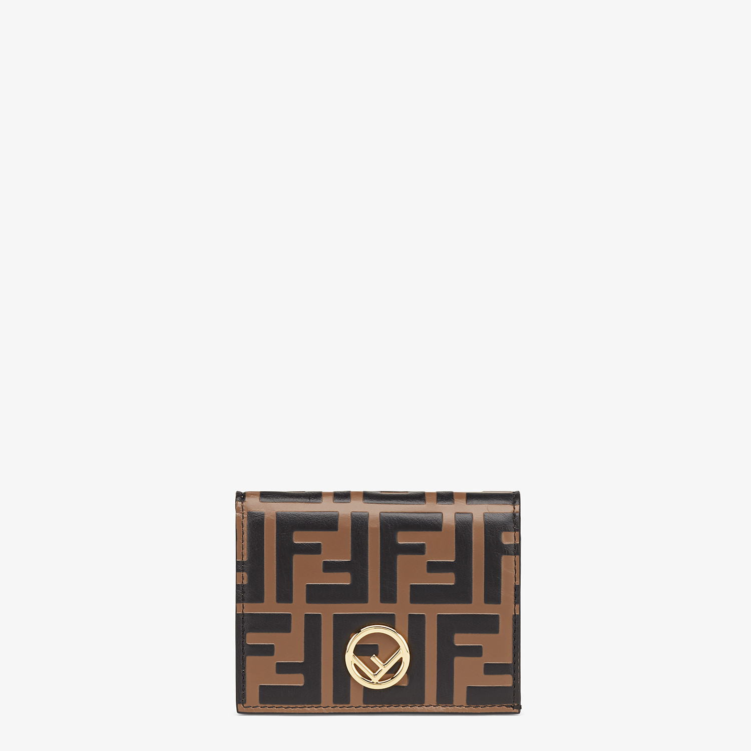 FENDI SMALL WALLET - Brown leather wallet - view 1 detail