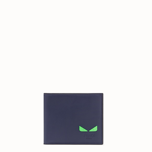 FENDI WALLET - Blue leather bi-fold wallet - view 1 small thumbnail