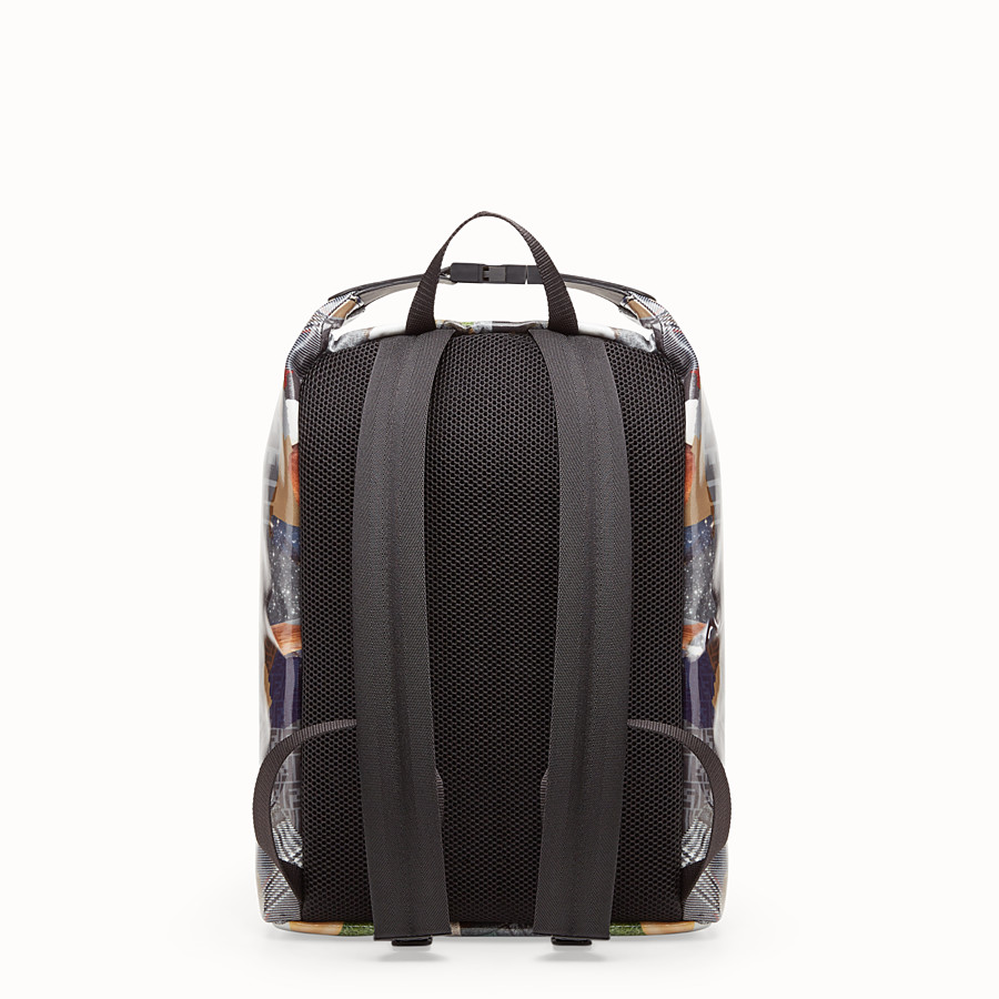 FENDI BACKPACK - Multicolour canvas backpack - view 3 detail