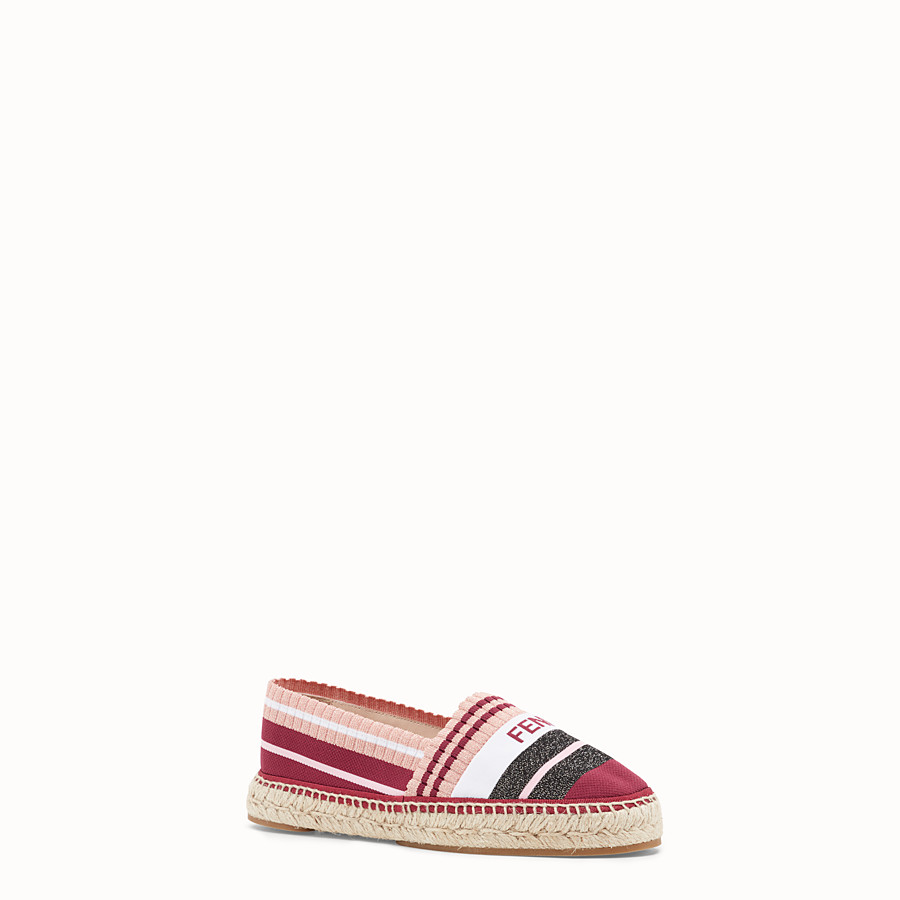 FENDI ESPADRILLES - Multicolour yarn espadrilles - view 2 detail