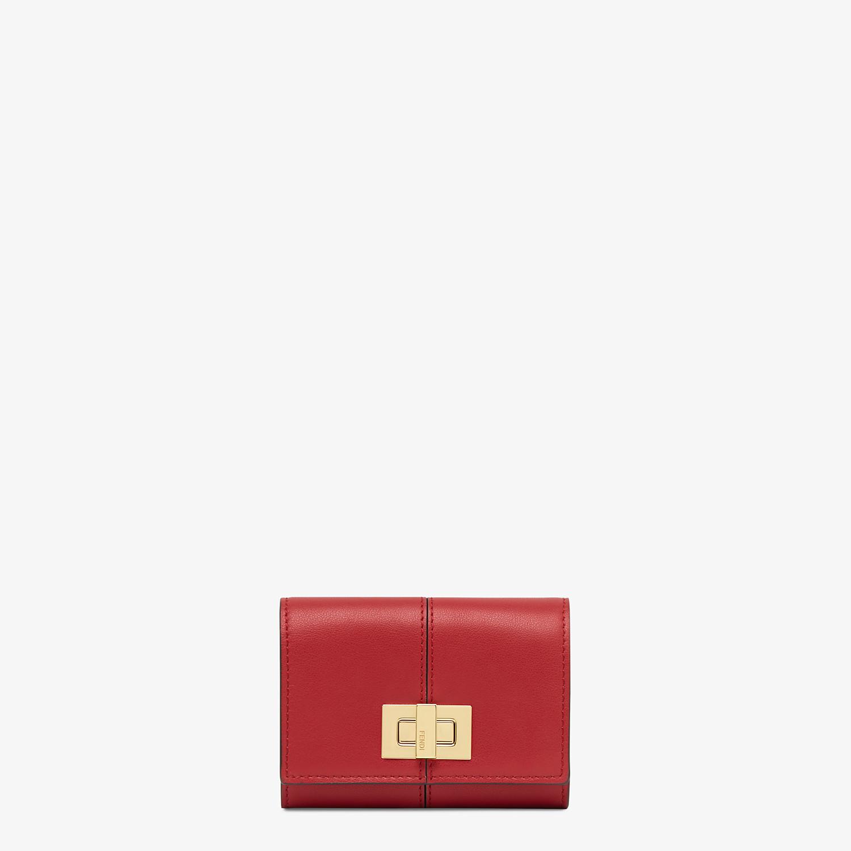 FENDI PORTACARTE - Portacarte in pelle rossa - vista 1 dettaglio