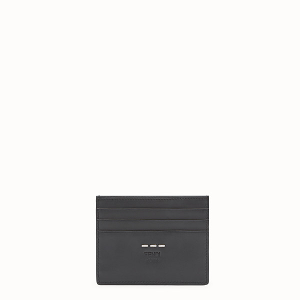 FENDI CARD HOLDER - Black leather 6-slot card holder - view 1 small thumbnail