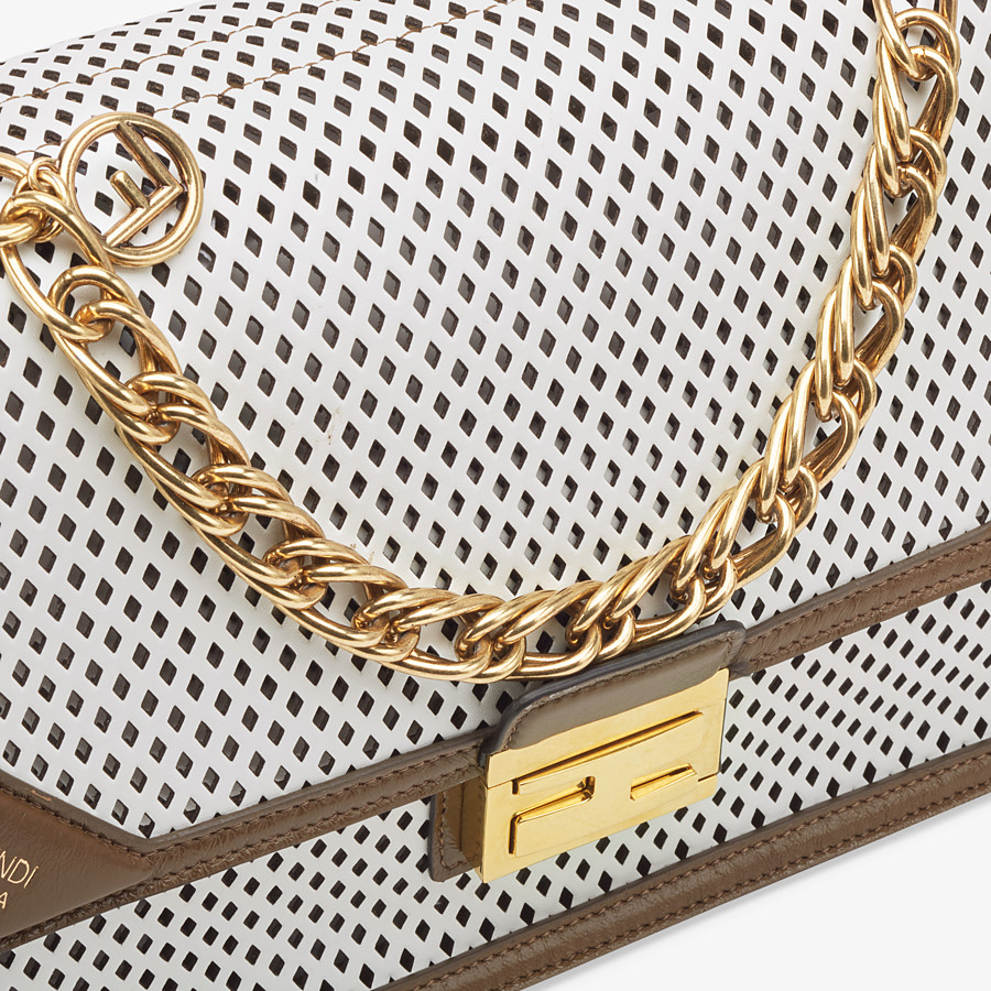 FENDI KAN U - White leather bag - view 6 detail