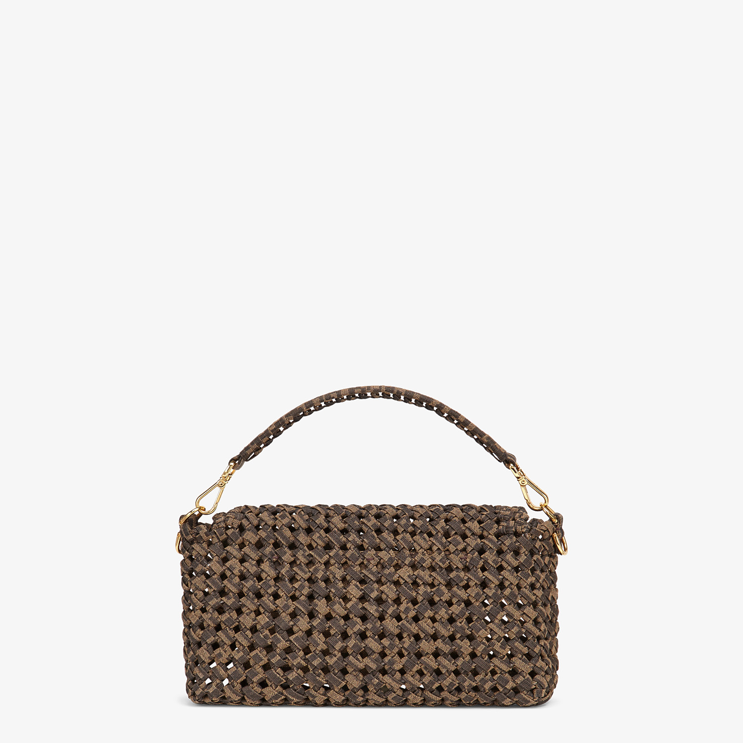 FENDI BAGUETTE - Jacquard fabric interlace bag - view 4 detail