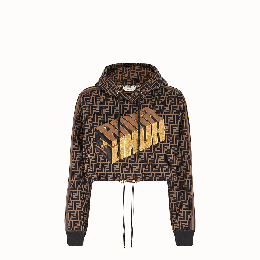 FENDI SWEATSHIRT - Fendi Roma Amor cotton sweatshirt - view 1 detail