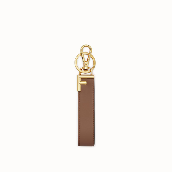 FENDI KEY RING - Brown leather key ring - view 1 small thumbnail