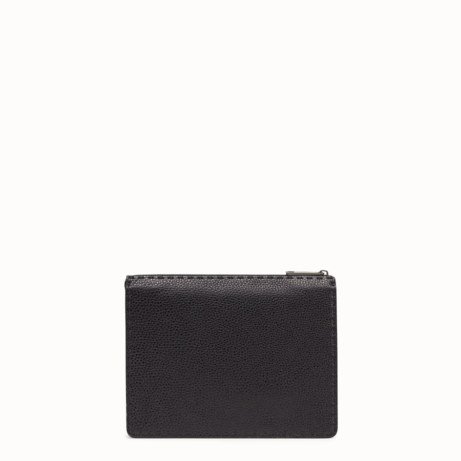 FENDI CLUTCH - Black Romano leather pochette - view 3 detail