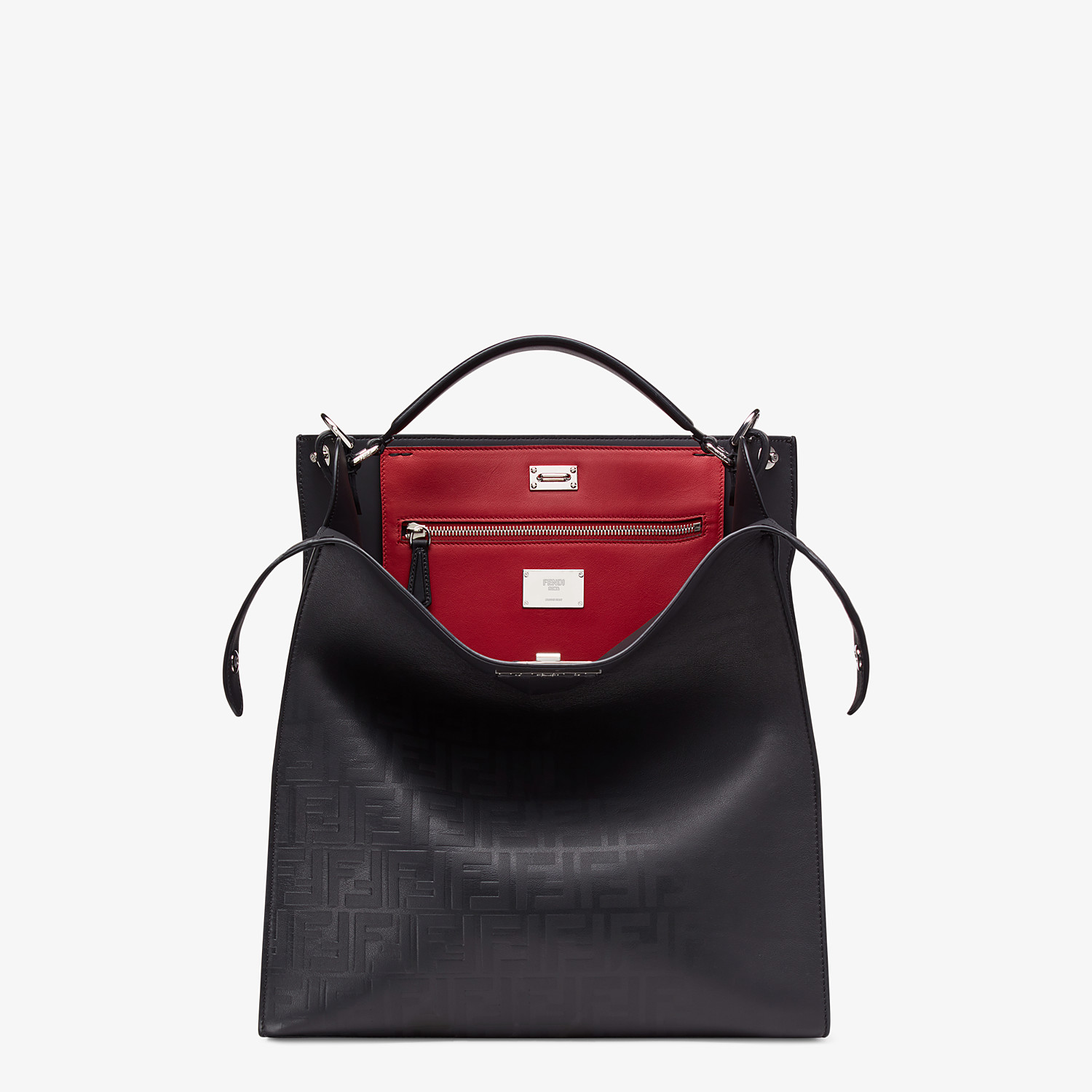 FENDI PEEKABOO X-LITE FIT - Black calfskin bag - view 1 detail