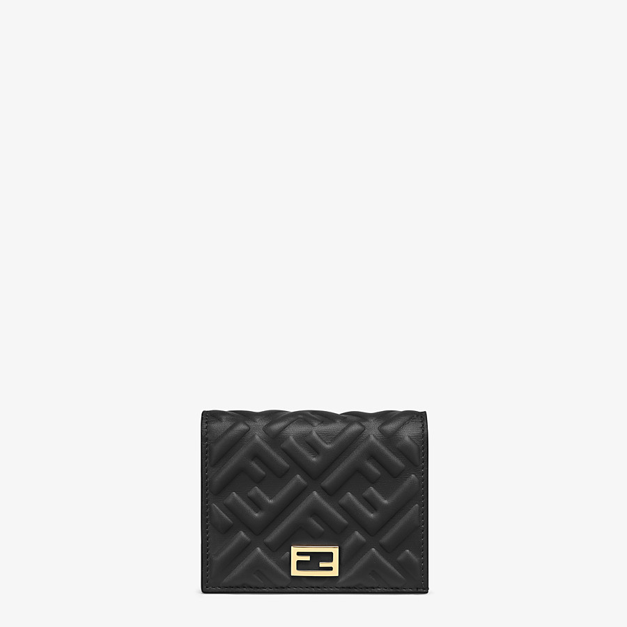 FENDI SMALL WALLET - Black nappa leather wallet - view 1 detail