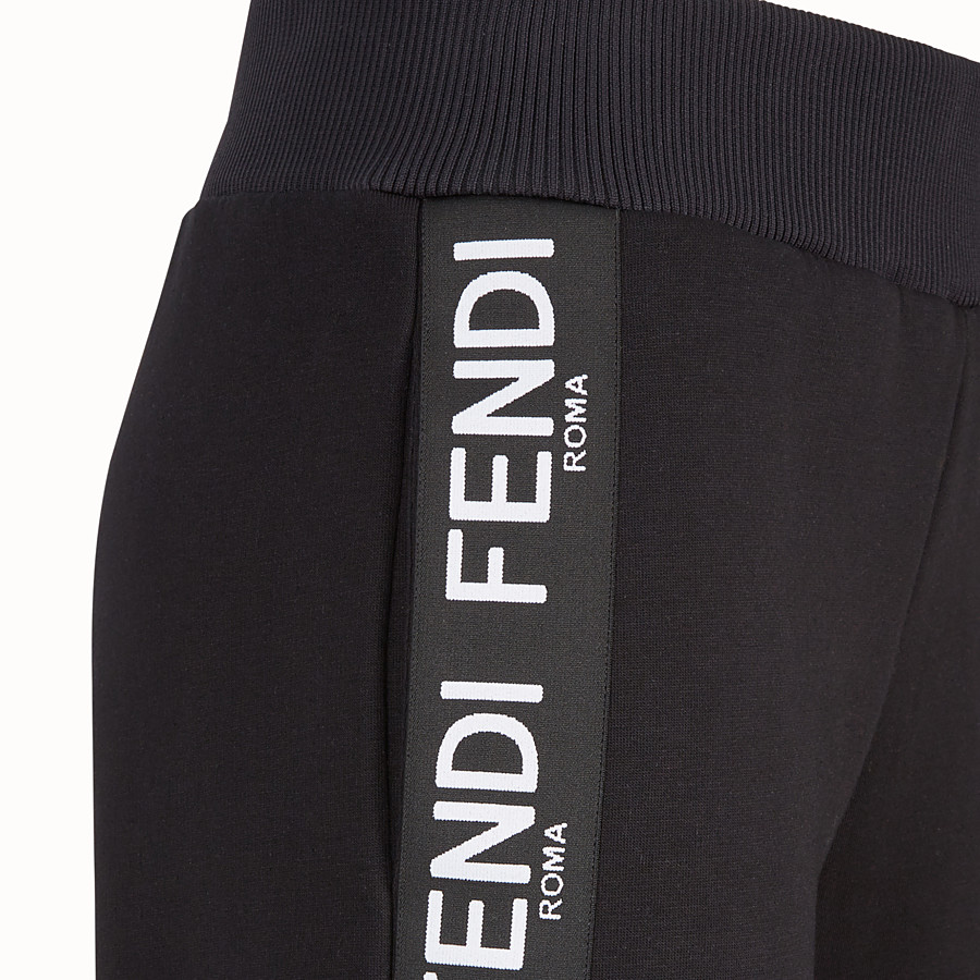 FENDI PANTS - Black fabric jogging pants - view 3 detail