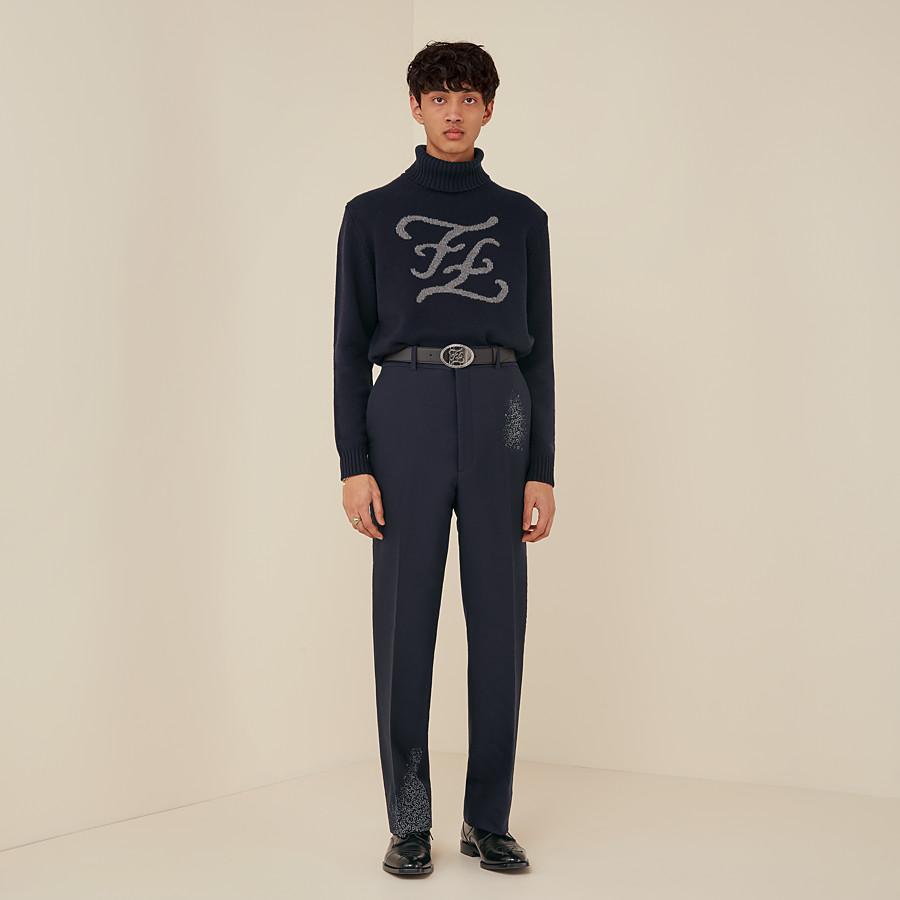 FENDI ROLLKRAGENOBERTEIL - Pullover aus Kaschmir in Blau - view 4 detail