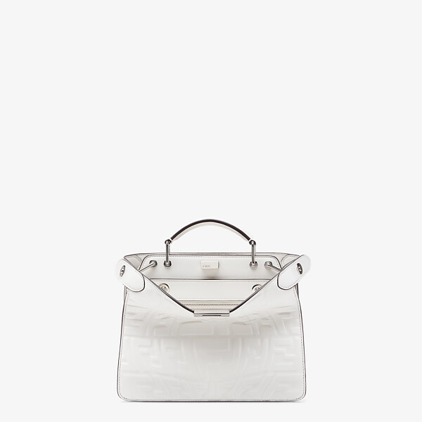 White nappa leather bag