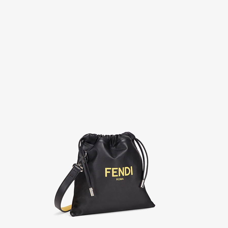 FENDI FENDI PACK SMALL POUCH - Black nappa leather bag - view 2 detail