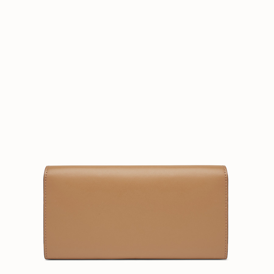 FENDI CONTINENTAL WITH CHAIN - Studded mini bag in sand-colour leather - view 3 detail