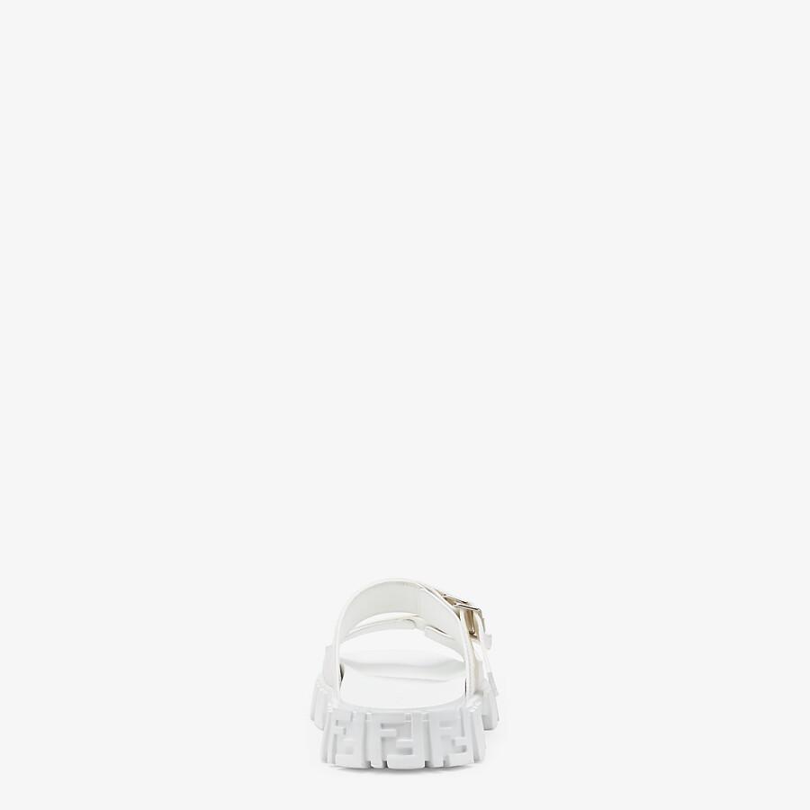 FENDI SANDALS - White fabric sandals - view 3 detail