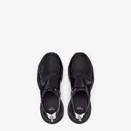 FENDI SNEAKERS - Sneakers in glossy black neoprene - view 4 thumbnail