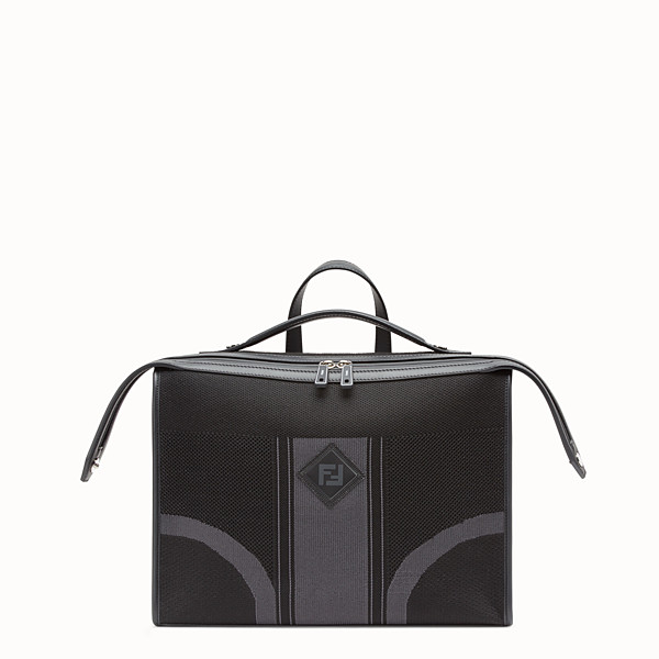 FENDI LUI BAG - Black tech knit bag - view 1 small thumbnail