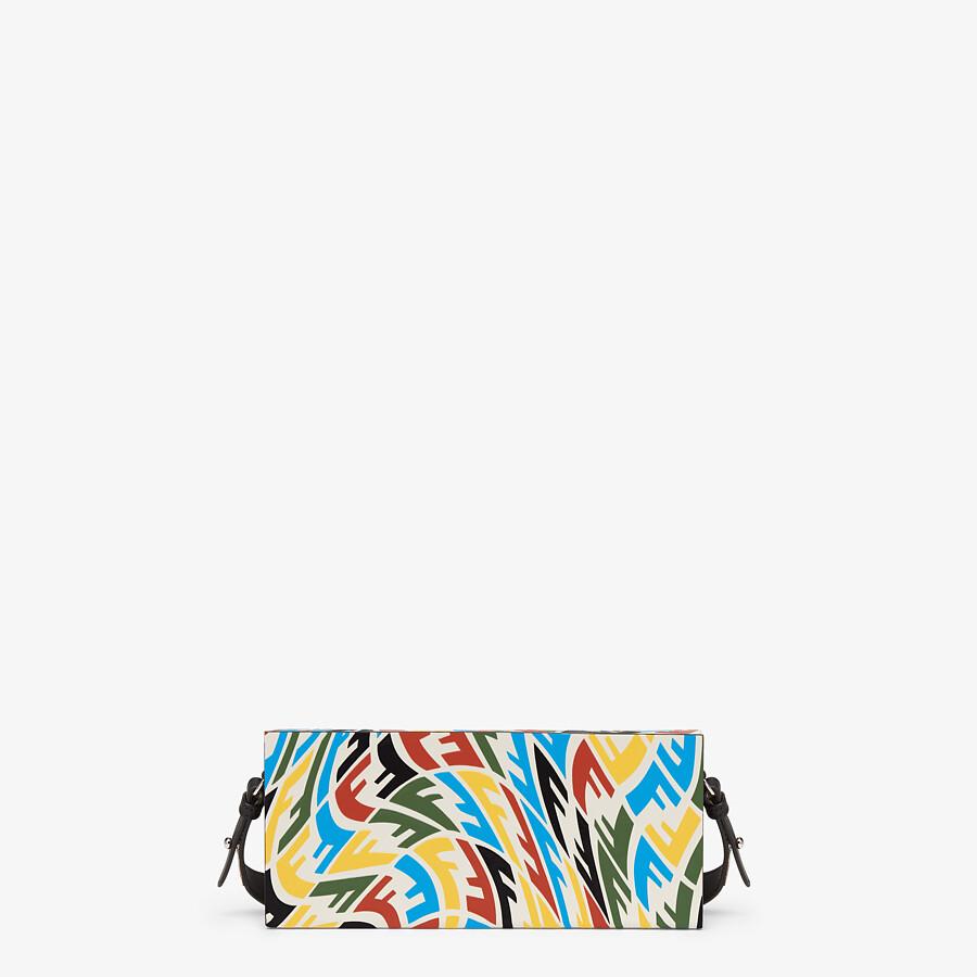 FENDI HORIZONTAL BOX - Multicolour FF Vertigo leather bag - view 3 detail
