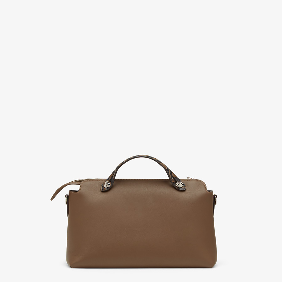 FENDI BY THE WAY MEDIUM - Brown leather Boston bag - view 4 detail