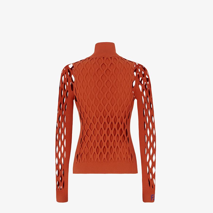 FENDI PULLOVER - Brown yarn jumper - view 2 detail