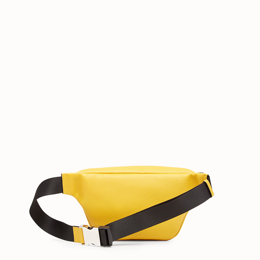 FENDI BELT BAG - Yellow leather belt bag - view 3 detail