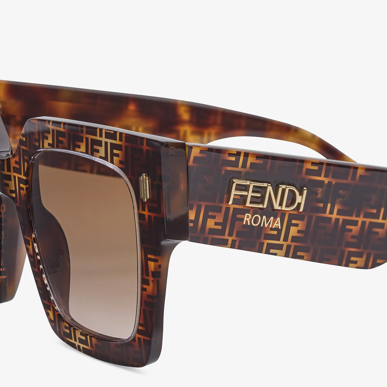 FENDI FENDI ROMA - FF Havana acetate sunglasses - view 3 detail