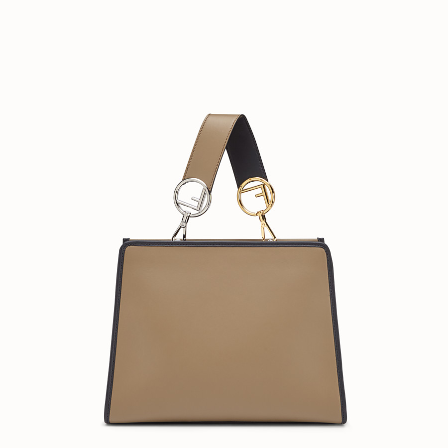 FENDI RUNAWAY SMALL - Brown leather bag - view 3 detail