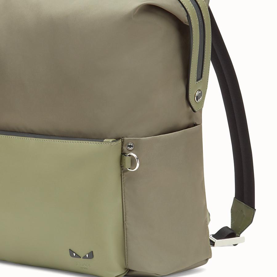 FENDI 背包 - 綠色尼龍和皮革背包 - view 4 detail