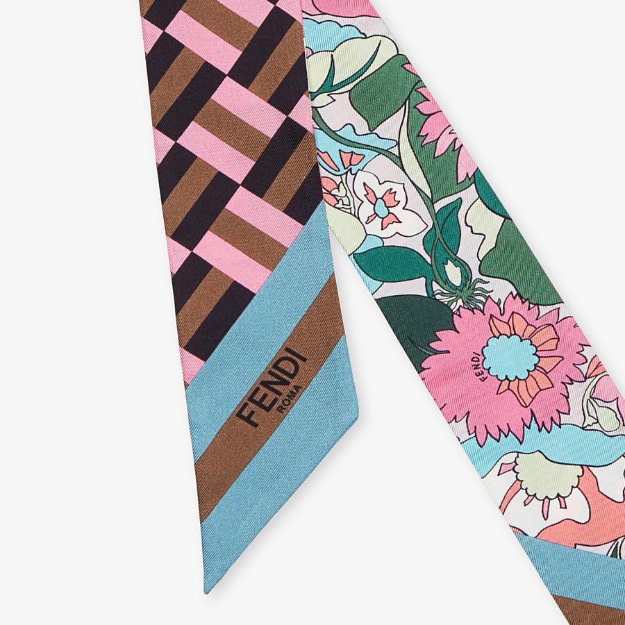FENDI WRAPPY - Multicolour silk bandeau - view 2 detail