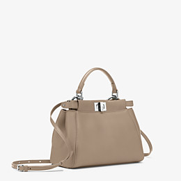 FENDI PEEKABOO ICONIC MINI - Handbag in dove grey nappa - view 2 thumbnail