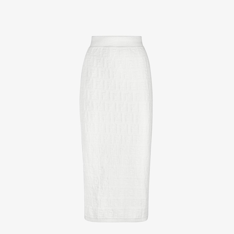FENDI SKIRT - White velvet skirt - view 1 detail