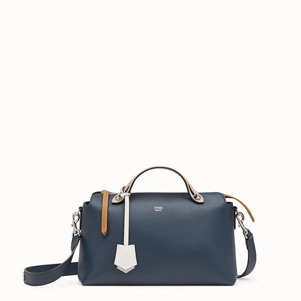 FENDI BY THE WAY REGULAR - Blue leather Boston bag - view 1 small thumbnail