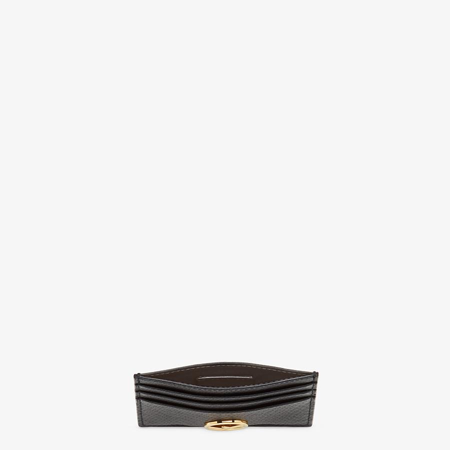 FENDI CARD HOLDER - Flat black leather card holder - view 4 detail