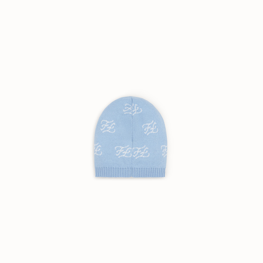 FENDI KNITTED BASEBALL CAP - Knitted baseball cap with inlay - view 2 detail