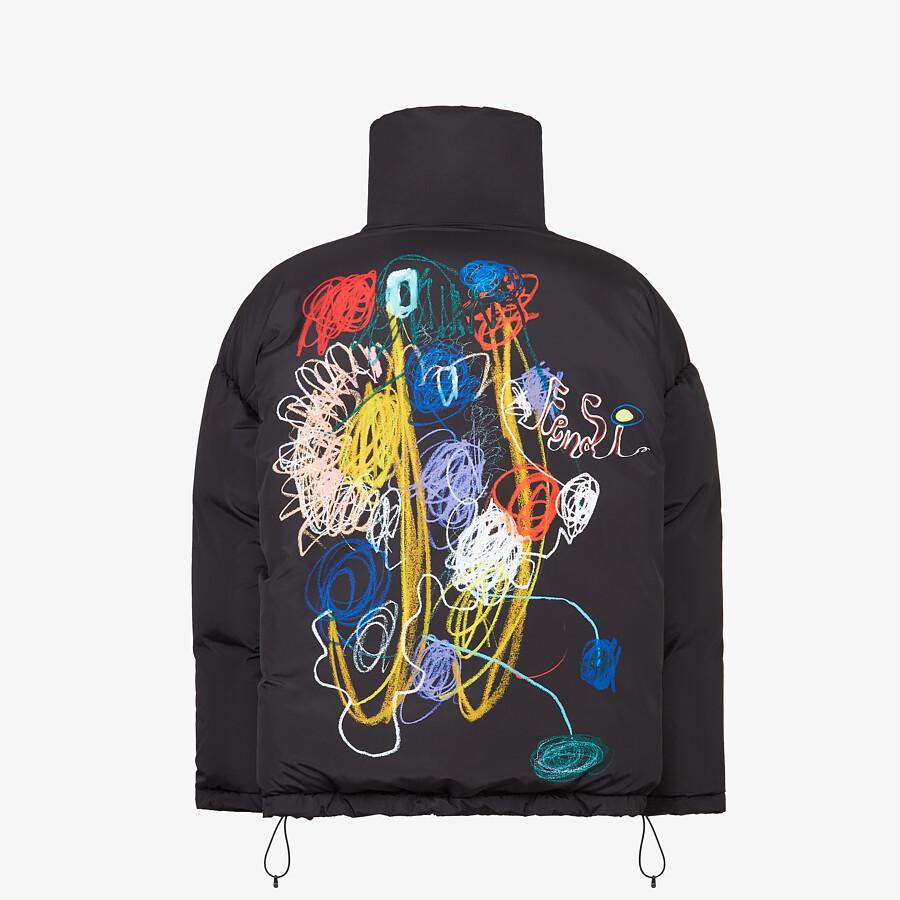 FENDI DOWN JACKET - Black tech fabric jacket - view 2 detail