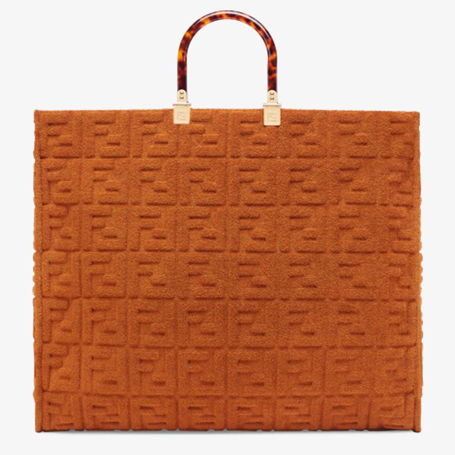 FENDI SUNSHINE SHOPPER - Shopper in brown terrycloth - view 3 detail