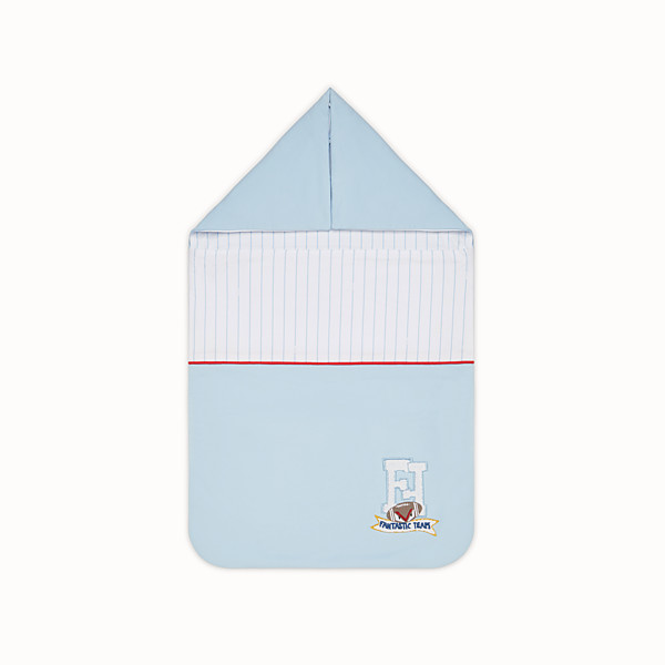 FENDI SLEEPING BAG BABY BOY - Sleeping bag in jersey multicolor - vista 1 thumbnail piccola