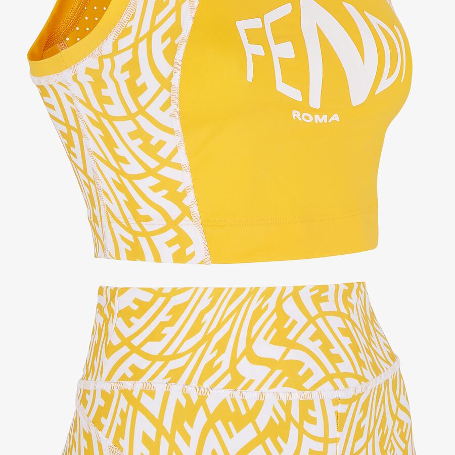 FENDI FITNESS SET - Yellow Lycra® fitness set - view 3 detail