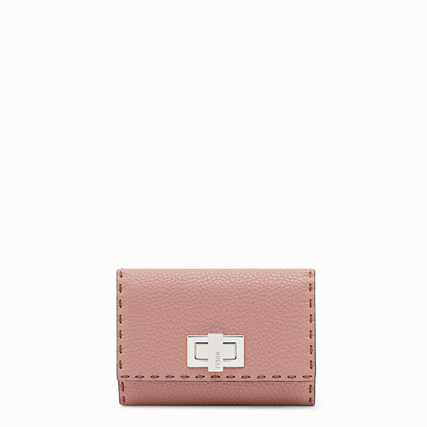 FENDI PORTEFEUILLE CONTINENTAL MOYEN - Portefeuille en cuir rose - view 1 small thumbnail
