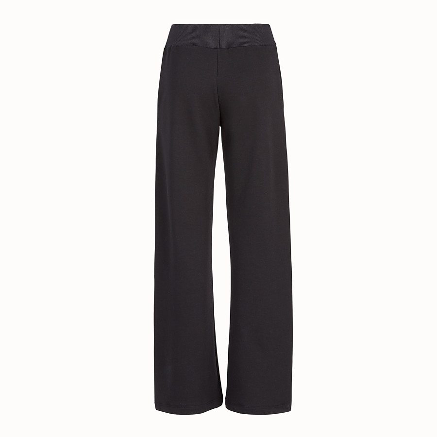 FENDI PANTS - Black fabric jogging pants - view 2 detail